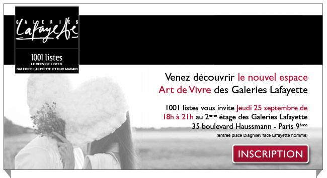 Venez découvrir le nouvel espace Art de Vivre des Galeries Lafayette